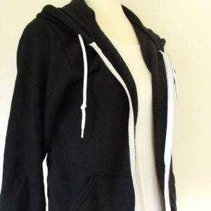 Black American Apparel zip up hoodie